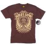 Camiseta Gold Gym Casual Brown