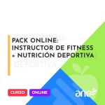 Pack Online: Instructor de fitness + Nutricion deportiva